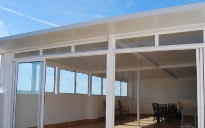 Techo para terrazas y patios de cristal en Murcia