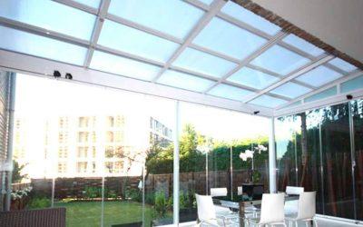 Techo fijo de cristal para patio en Madrid