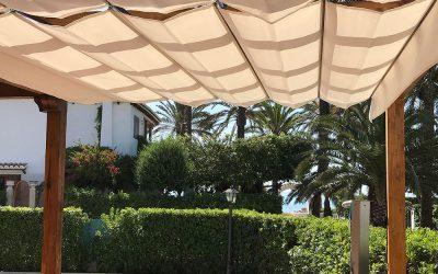 Toldo exterior para jardín en Alicante